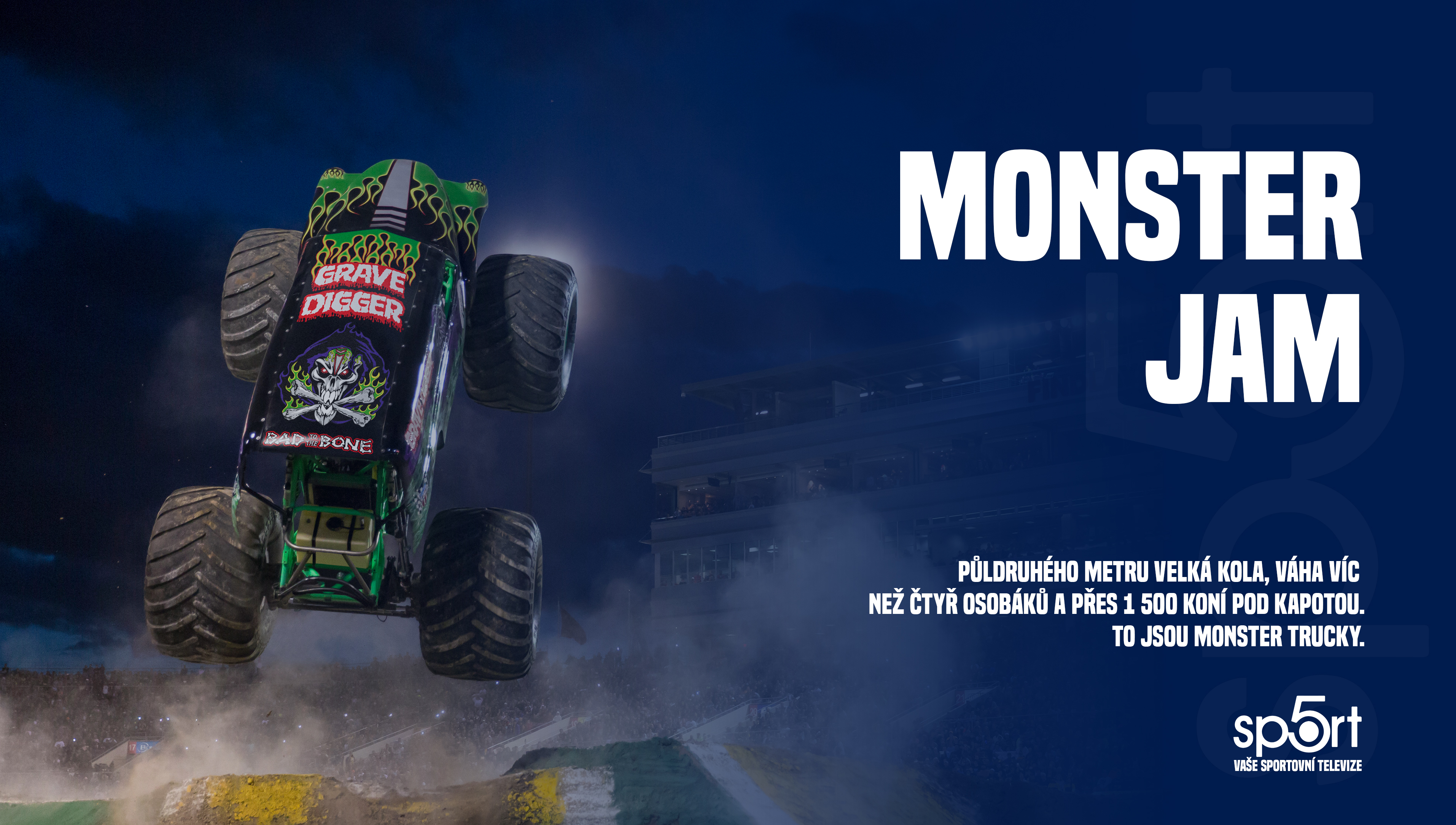 Nová rodinná zábava na SPORT 5! Monster Jam Series!